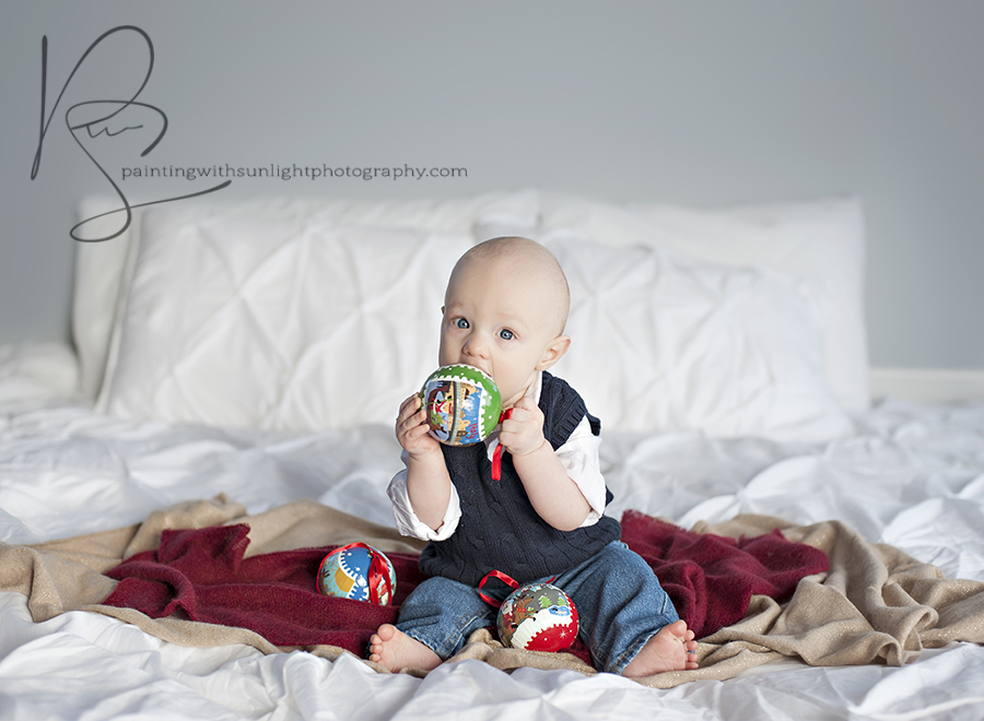 6 month old Christmas studio session