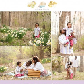 Family Photography in Louisville Kentucky Springtime Flowers Session