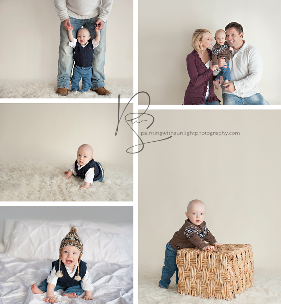 6 month old family session